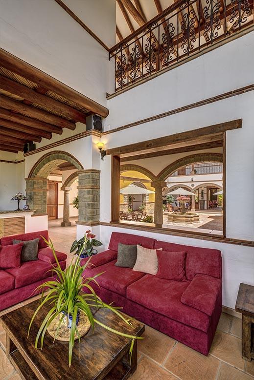 Recepción del hotel María Bonita